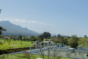View of the Fancourt Resort Tennis Courts