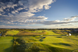 View of the Championship course, Carnoustie Golf Links, Scotland, United Kingdom