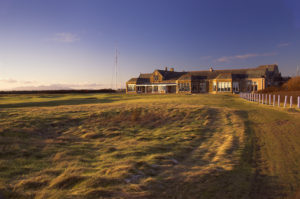 View of the clubhouse t Royal Troon Golf Club, Scotland, United Kingdom