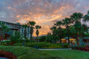 The sun sets over Horseshoe Bay Resort, Texas