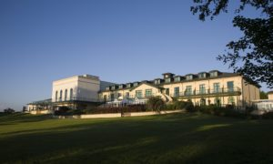 View of back of resort, The Vale Resort, Wales