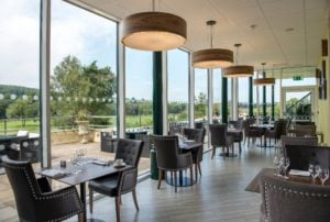 A restaurant at The Vale Resort, Wales