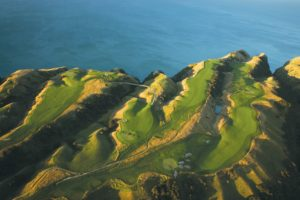 View of the 2nd nine, Cape Kidnappers, Hawke's Bay, New Zealand