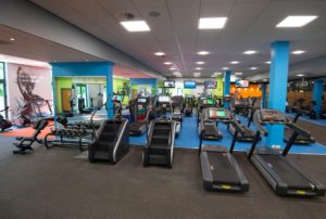 Displaying the fully equipped health club, The Vale Resort, Wales