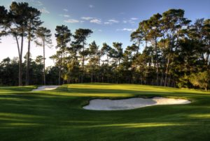 Image looking at the 6th green at Poppy Hills Golf Course, Pebble Beach, USA