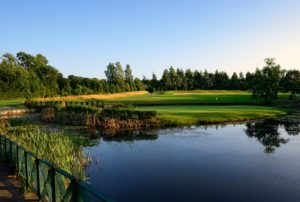 View of a lake on the Lake Course, The Vale Resort, Wales