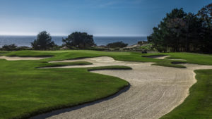Image of the 1st hole at spyglass Hill Golf Course
