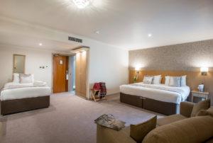 Inside a triple occupancy room, The Vale Resort, Wales