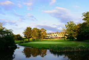 View of the 18th green, The Vale Resort, Wales
