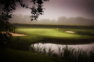Image depicting the golf course in mist, The Vale Resort, Wales