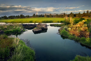 Image of a water feature on the Jack Nicklaus Signature course at Pronghorn Golf Resort, Bend, Oregon, USA