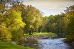 Image of the River Sheboygan on the 13th Tee
