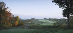 Early morning sunrise on the Irish Golf course at Destination Kohler, Wisconsin, USA