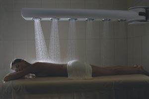 Image of a woman getting a treatment at the Kohler Waters Spa, Destination Kohler, Wisconsin, USA